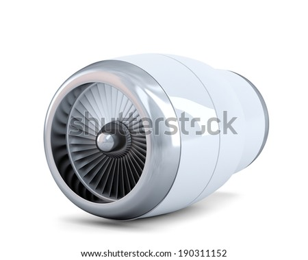 Jet engine. Isolated. Contains clipping path - stock photo