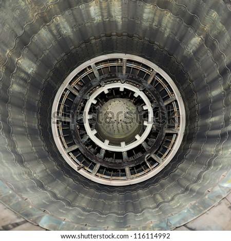 jet engine nozzle - stock photo