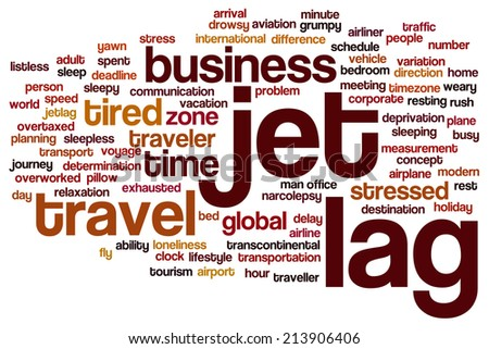 Jet lag concept word cloud background - stock photo