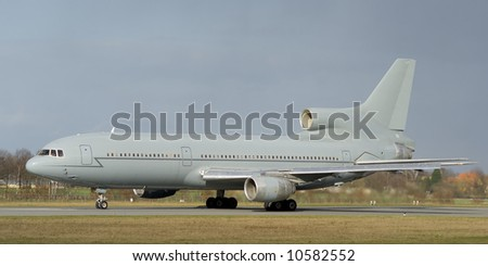 Jet passenger liner ready to take off