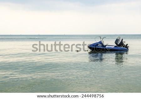 Jet-ski in the water  - stock photo