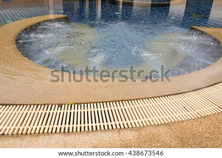 jet spa pool in home, no body - stock photo