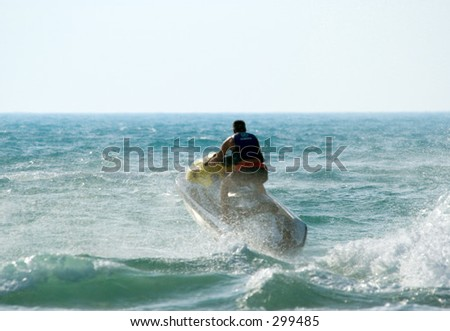 Jetski fun at Jumeira beach, Dubai, UAE