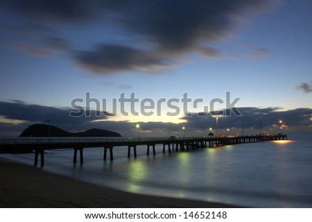 Jetty at sunrise