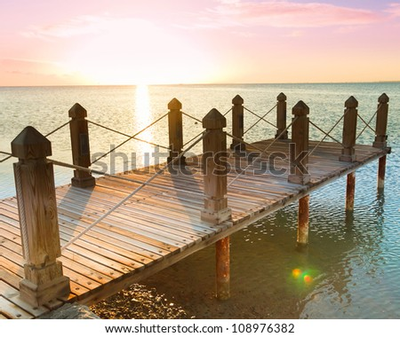Jetty into the Sunrise