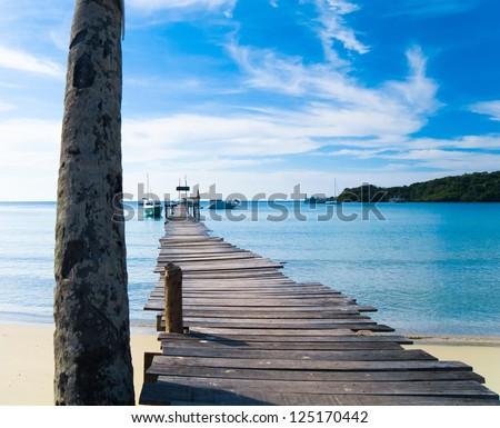 Jetty to Eternity Boardwalk Admire - stock photo
