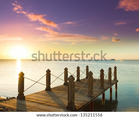 Jetty to sunrise Paradise