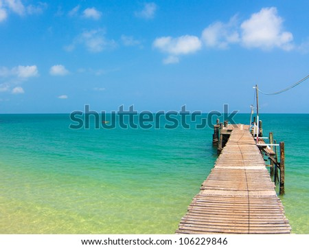 Jetty View - stock photo