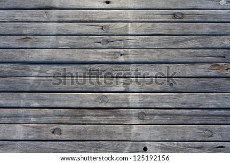 Jetty wood planks - stock photo