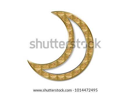 Jewel Form White Moon Golden Frame Stock Illustration 1014472495 ...