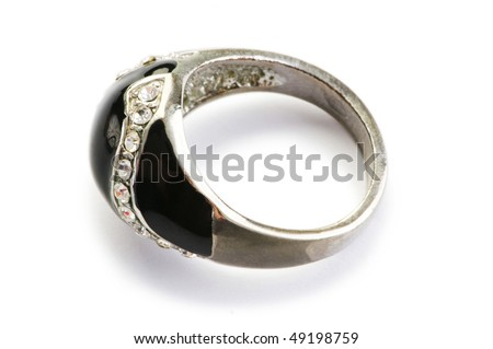 Jewelery ring isolated on the white background