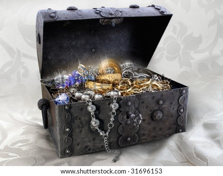 jewellery-box - stock photo