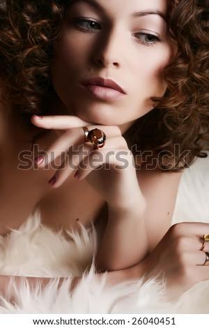 Jewelry and Beauty. Fashion art photo - stock photo
