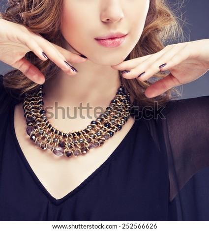 Jewelry and Beauty. Fashion photo - stock photo