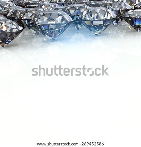 Jewelry Background with  gemstones. Diamond - stock photo