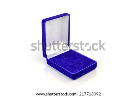 Jewelry box isolated on white background