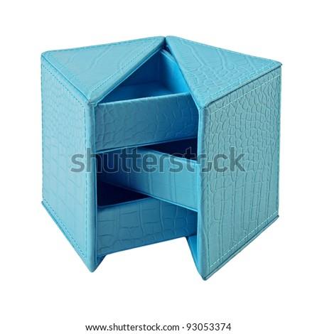 jewelry box isolated on white background - stock photo