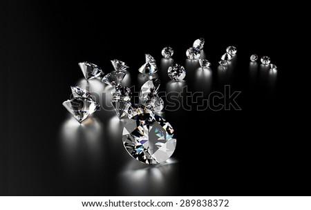 Jewelry gemstone on dark  background - stock photo