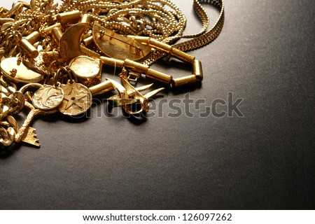 Jewelry in a more dramatic lighting - stock photo