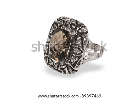 Jewelry on white background