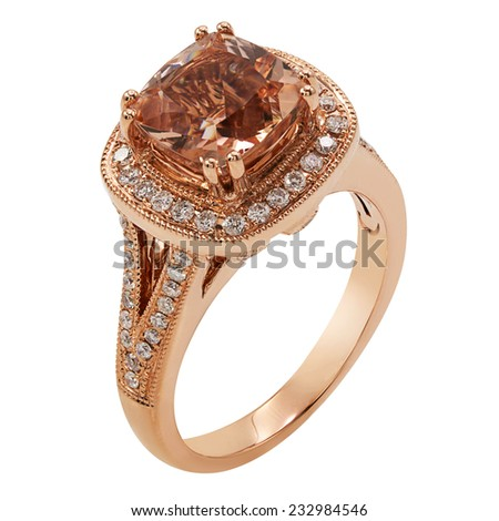 Jewelry ring isolated - stock photo