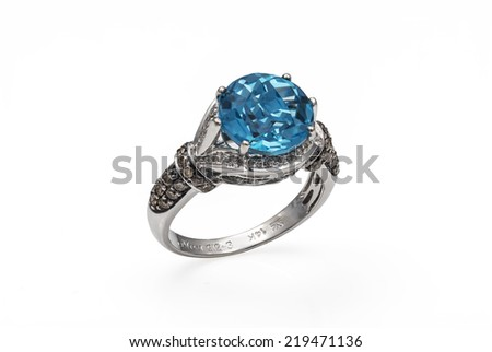 Jewelry ring on a white background.