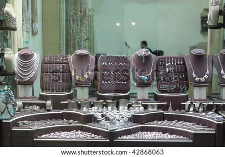 Jewelry store show-window - stock photo
