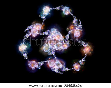 Jewels for Martian Girl series. Creative arrangement of colorful organic forms and lights as a concept metaphor on subject of jewelry, beauty, art, science, magic and imagination - stock photo