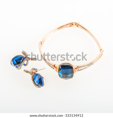 jewels on a white background - stock photo