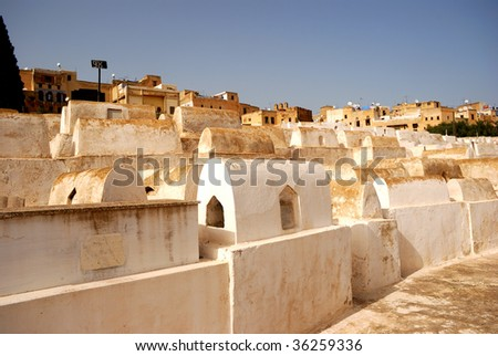 Jewish cemetery, Fes, Morocco - stock photo