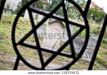 Jewish cemetery in Kazimierz in Krakow, Poland - stock photo