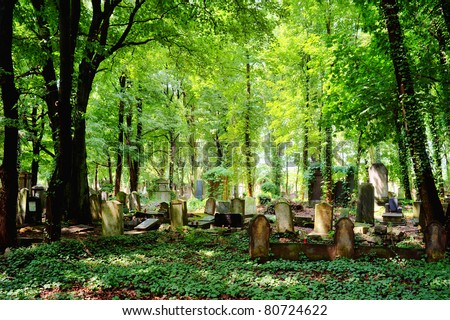 Jewish Cemetery in Wroclaw, Poland