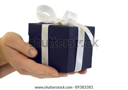 Jewish gift box isolated on white - stock photo