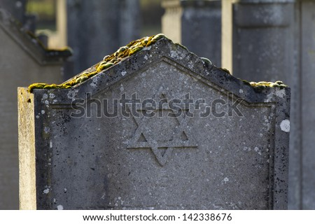 Jewish Graveyard - stock photo