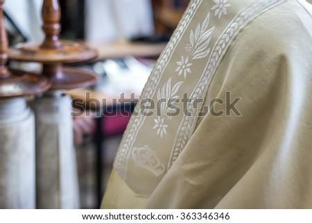 Jewish man praying - stock photo