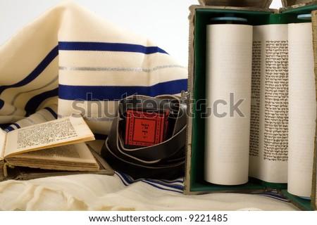 jewish symbols - stock photo