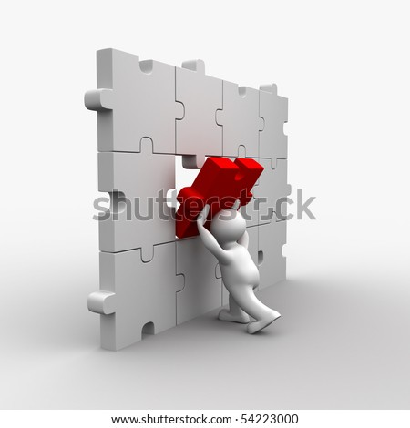 Jigsaw - stock photo