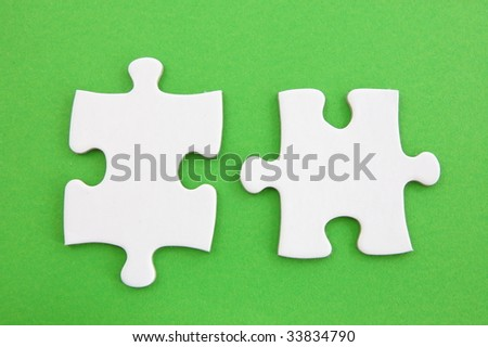 jigsaw or puzzle background with copyspace for text