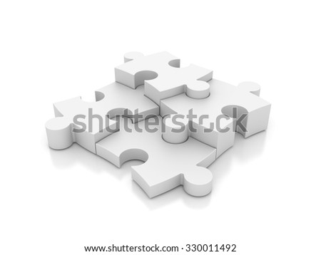 Jigsaw Pieces - Business Concept -  High Quality 3D Render