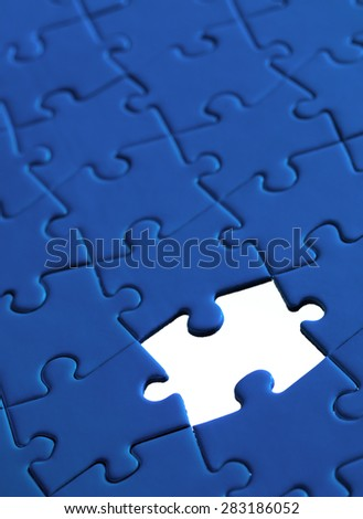 Jigsaw pieces with a white background