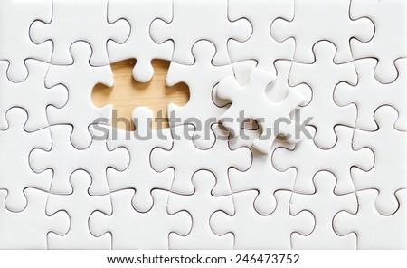 Jigsaw puzzle, background - stock photo