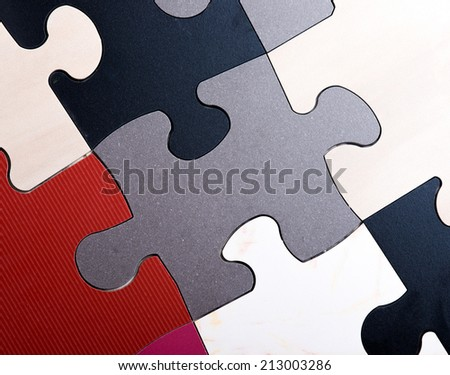 Jigsaw Puzzle made of stone ceramic tile - stock photo