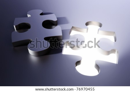 Jigsaw puzzle piece - stock photo