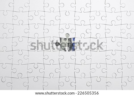 Jigsaw puzzle with Franklin