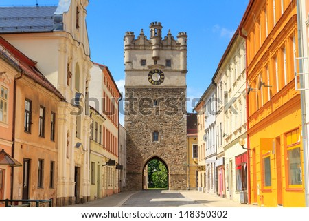 Jihlava (Iglau) Old City Gate, Moravia, Czech Republic - stock photo