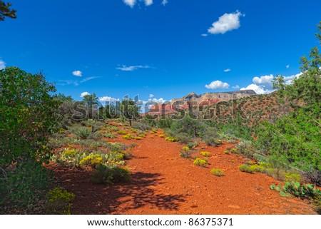 Jim Thompson Trail-Sedona, AZ On the path to the red rocks! - stock photo