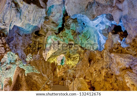 Jim White Tunnel, Carlsbad Caverns, New Mexico - stock photo