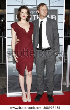 """Jimmi Simpson and Melanie Lynskey at the Los Angeles Premiere of """"Up In The Air"""" held at the Mann Village Theater in Westwood, California, United States on November 30, 2009.  - stock photo"""