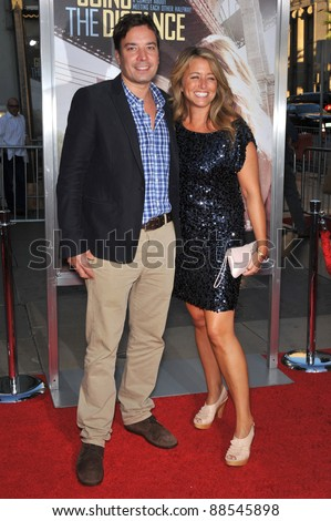 """Jimmy Fallon & wife Nancy Juvonen at the Los Angeles premiere of """"Going the Distance"""" at Grauman's Chinese Theatre, Hollywood. August 23, 2010  Los Angeles, CA Picture: Paul Smith / Featureflash - stock photo"""