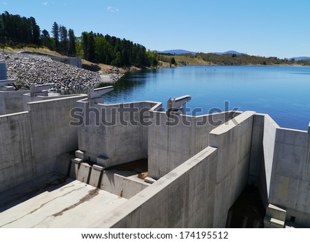 Jindabyne Dam is a dam across the Snowy River in the Snowy Mountains of New South Wales in Australia